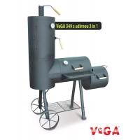 VeGA 349 - Rodinný zahradní gril s udírnou 3in1