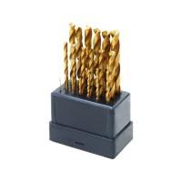 1119A, vrtáky do kovu, sada 19ks, ∅1-10mm, HSS